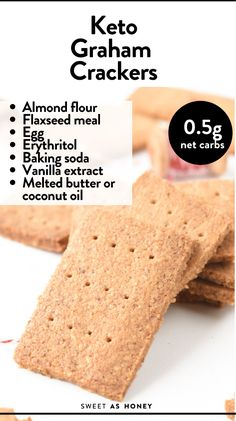 Almond Flour Crackers Recipe, Baking With Almond Flour, Almond Flour Recipes, Savory Crackers Recipe, Savory Snacks, Keto Snacks, Health Snacks, Health Recipes, Sugar Free Desserts