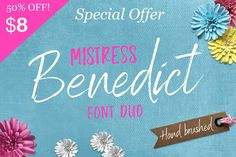 Benedict Font Duo by Joanne Marie on @creativemarket