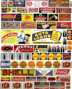Vintage Labels, Vintage Ads, Vintage Posters, Vintage Items, Ho Scale Train Layout, Model Train Layouts, Old Signs, Advertising Signs, Scrapbook Stickers