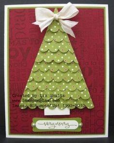 stampin up christmas tree cards   savannah Stampin' Up! Pennant Punch Jackie Topa Christmas Tree