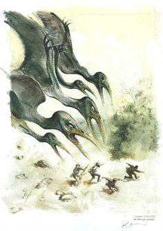 Le monde perdu par René Follet - Couverture originale Graphic Novels, Les Oeuvres, Images, Moose Art, Abstract, Artwork, Animals, The Lost World, Comic Art