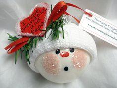 snowman ornament craft idea for Nana and papa