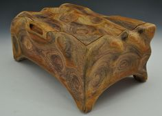 A Cocobolo Sculpted Box