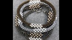 Many Moons Bracelet - Cubic Right Angle Weave - YouTube