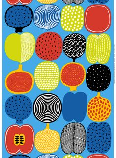 Marimekko online shop - Finnish fabrics and textiles Motifs Textiles, Textile Patterns, Print Patterns, Floral Patterns, Design Textile, Fabric Design, Marimekko Fabric, Illustrations Vintage, Graphics