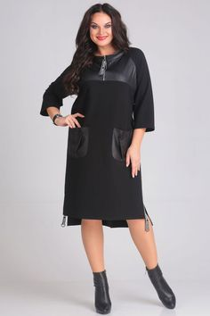 Платье Andrea Style 00115 Gaun Dress, Emerald Dresses, Capsule Outfits, Sport Chic, Abaya Fashion, Comfortable Fashion, Curvy Fashion, Plus Size Fashion, Winter Dresses