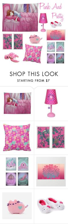 Pink And Pretty by chevril on Polyvore featuring interior, interiors, interior design, home, home decor, interior decorating, Peppa Pig and Pusheen