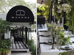 Masons at Gillman Barracks is a charmingly restored colonial style restaurant, a perfect Singapore wedding venue for intimate celebrations.