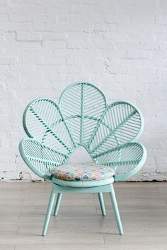 The things I would do for this chair. So gorgeous Love Chair Mint - The Family Love Tree. aqua teal turquoise mint chair furniture home decor design Peacock Chair, Love Chair, Home And Deco, Decoration, Interior Design, Interior Decorating, Decorating Ideas, House Styles, Cane Furniture