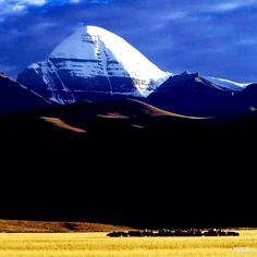 Mount kailash in western tibet. read about it @ http://itibettravel.com/mount-kailash/