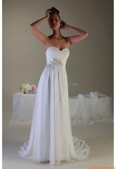 Herz-neck Kolumne Günstige Elegante Brautkleider