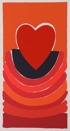 Spanish Dreams Silkscreen Print by Sir Terry Frost Sonia Delaunay, Abstract Styles, Abstract Art, Nadir Afonso, Peter Wood, Valentines Art, Silk Screen Printing, Love Symbols, Heart Art
