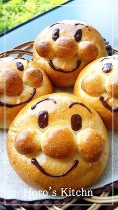 Anpan Man Bun Recipe Source of energy ☆ Anpan Man Pan (cookpad), Japanese … - Recipe Oreo Dessert, Dessert Recipes, Cute Food, Good Food, Funny Food, Bread Recipes, Cooking Recipes, Bread Shaping, Cuisine Diverse