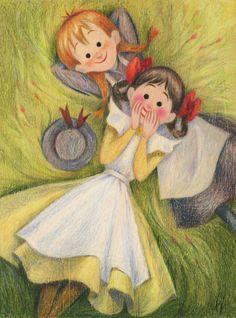 Anne of Green Gables Illustration {Geneviève Godbout} Anne Green, Anne Auf Green Gables, Anne With An E, Anne Shirley, Children's Book Illustration, Book Illustrations, Character Illustration, Cute Art, Fantasy Art