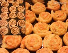 Syrové, škvarkové slimáky z kysnutého zemiakového cesta (fotorecept)Suroviny 1/2 kg múka polohrubá 250 g varené zemiaky 1 ks vajce 40 g masť 1/2 PL cukor 1 ČL soľ 125 ml mlieko 1/2 kocky čerstvé droždie 200 g tvrdý strúhaný syr podľa potreby mleté škvarky ks na potretie žĺtko na posypanie semienka 30 minút príprava Snails, Basket, Cooking, Snail
