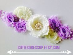 Purple and beige pregnancy sash , Maternaty sash ,  by Cutiesdressup on Etsy