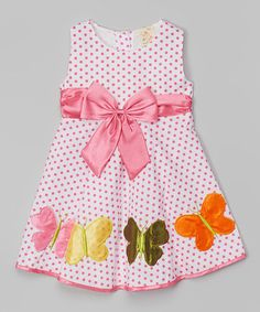 Another great find on #zulily! Pink Butterfly Babydoll Dress - Toddler & Girls by the Silly Sissy #zulilyfinds