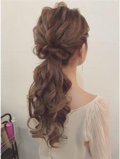 korean wedding hairstyles Hair wedding ponytail hairdos for 2019 Wedding Ponytail, Hairdo Wedding, Boho Wedding Hair, Retro Hairstyles, Party Hairstyles, Bride Hairstyles, Korean Wedding Hair, Pelo Retro, Mother Of The Bride Hair