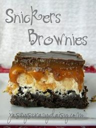 Snickers Brownies... these are to die for!!! omg