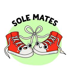 'Sole Mates Pun' Sticker by punnybone