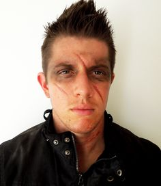 Halloween Makeup Tutorial Male Post Apocalyptic Look                                                                                                                                                                                 More