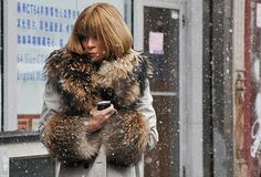Anna Wintour captured by Tommy Ton