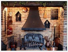 rosecottageandangels: The warmth of a log fire