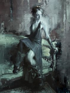 """Midnight in the Sun Room"" - 18 x 24 inches - Oil on Panel - Jeremy Mann"