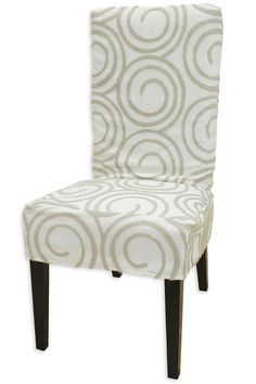 Liking the Home Decorators Collection website for slipcovers. Why couldn't I find this before? Parsons Chair Slipcovers, Parsons Chairs, Dinning Room Chair Covers, Dining Room, Home Renovation, Accent Chairs, Interior Decorating, Reno Ideas, Sewing