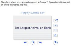 Create Flashcards from Google Spreadsheets from Free Technology for Teachers