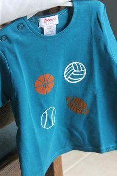Heat transfer Toddler Boy Sport Ball Shirt by Kristen
