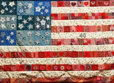 US Flag button quilt <3