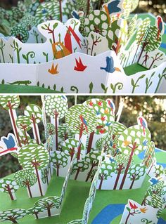 In the Forest - a pop-up book - internals by thedailysmudge, via Flickr