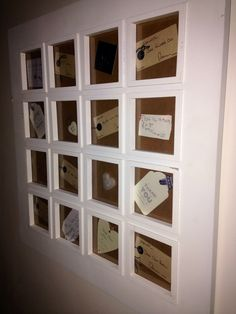 Fill an old frame with gift tags that touched your heart and notes from your children or loved ones . . Everyone looks and loves it.