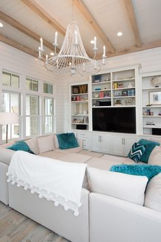 Beach House with Transitional Coastal Interiors sectional DR PITT by Mitchell Gold