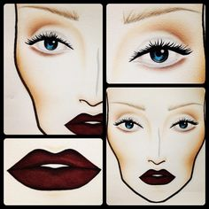one of my fave looks to wear when I go out.. heh..    white eyeshadow + dark red lipstick