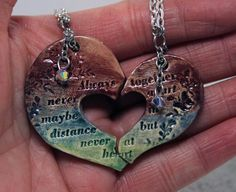 Friendship necklaces Set of 2 Friendship by GirlwithaFrogTattoo