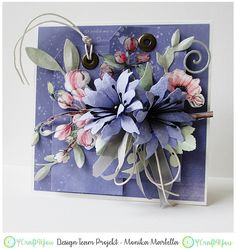 Gallery of handicrafts: Fiolet Mother's Day Greeting Cards, Greeting Cards Handmade, Pretty Cards, Love Cards, Cards For Friends, Friend Cards, Shabby Chic Cards, Butterfly Cards, Paper Roses