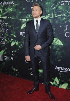Charlie Hunnam Helped Make This the Handsomest Red Carpet of the Week - Charlie Hunnam from InStyle.com Lost City Of Z, Charlie Hunnam Soa, Aaron Taylor Johnson, New Fantasy, Jax Teller, Mr Porter, Brad Pitt, Bearded Men, Celebrity Crush