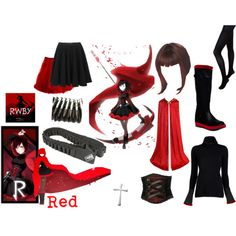 """""""RWBY - Red"""" by amayal on Polyvore"""