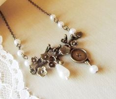 Personalized Vintage Necklace  Antique Brass by 4Everinstyle, $16.00