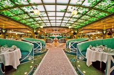 Enchanted Garden restaurant on the Disney Fantasy