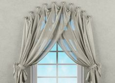 Curtains For Arched Windows, Home Curtains, Elegant Curtains, Beautiful Curtains, Curtain Styles, Curtain Designs, Arched Window Treatments, Rideaux Design, Ideas Hogar