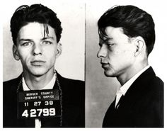 "Frank Sinatra arrested for ""carrying on with a married woman,"" 1938."