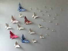 Origami butterfly wall