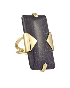 Tobin Ring in Blue Goldstone - Kendra Scott Jewelry