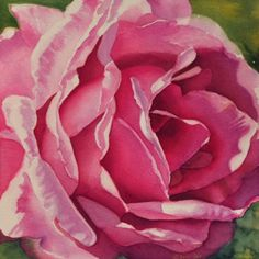 Purple -Rose Realistic Watercolor Painting - how to paint a rose Tutorials