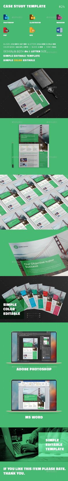 Case Study Template | #Flyer - #Newsletters Print #Templates Download here: https://graphicriver.net/item/case-study-template-flyer/19405218?ref=alena994