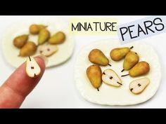 Polmer Clay Pears TUTORIAL | polymer clay food - YouTube