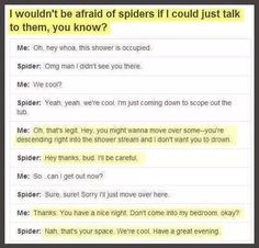 Spiders still scare me.